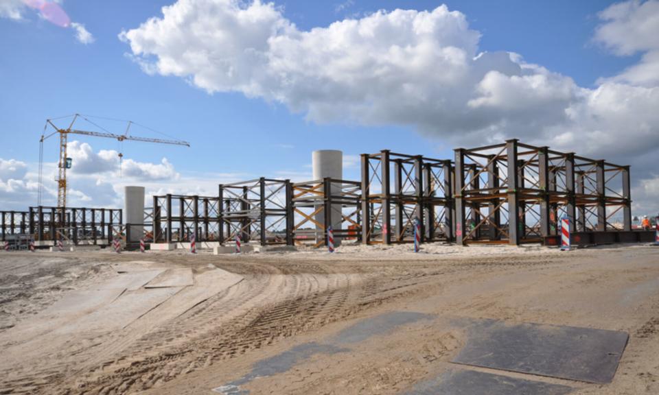 Stalen constructie bouw fly-overs