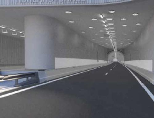 Zonlicht in de tunnel van de N434