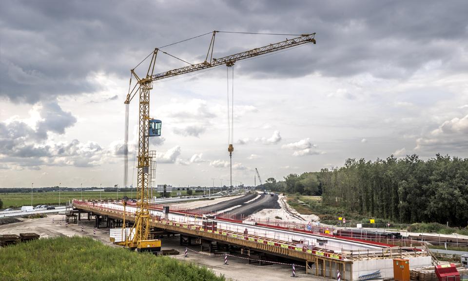 Knooppunt Hofvliet in aanbouw
