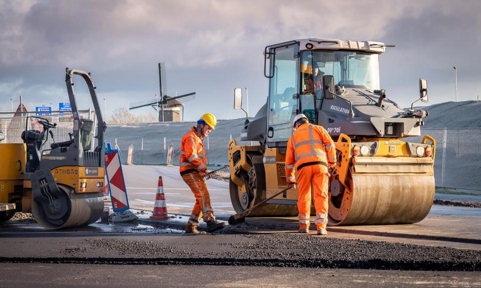 Asfalteringswerkzaamheden RijnlandRoute
