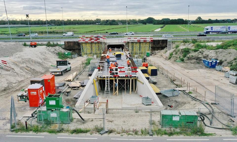 Werkzaamheden fietstunnel A4