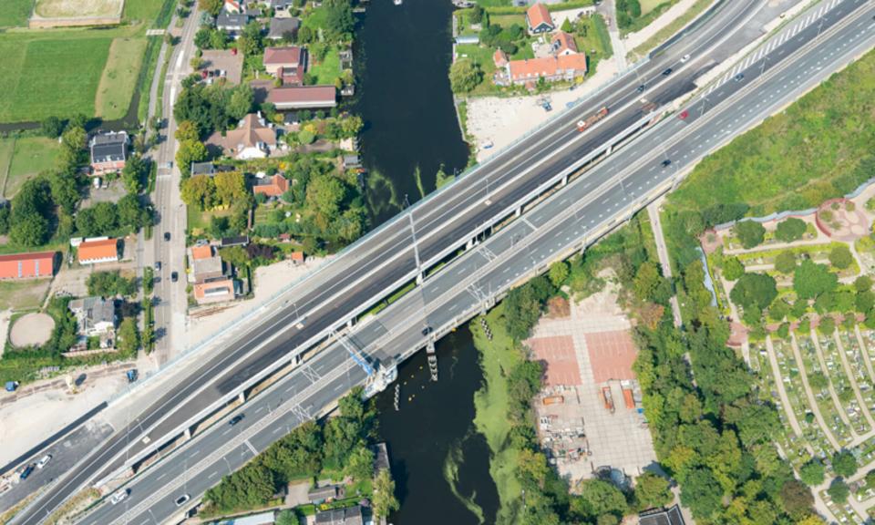 De nieuwe brug Oude Rijn