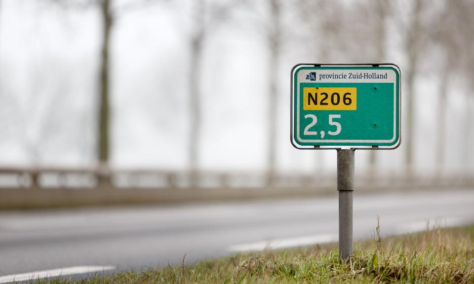 Hectometerpaaltje N206