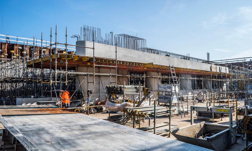 Werkzaamheden op de bouwplaatst van de N434