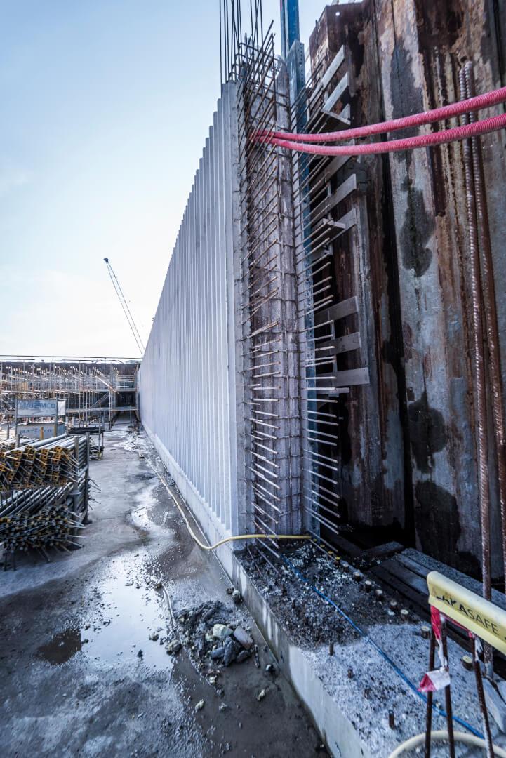 Zo ziet een wand eruit, voordat het beton wordt gestort 2