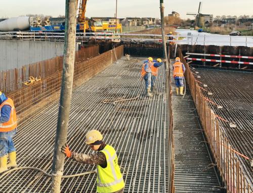 Storten beton aquaduct veenwatering