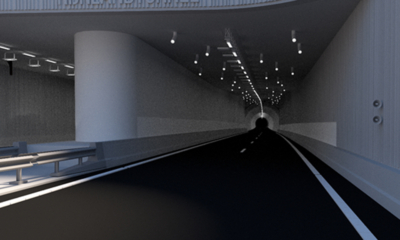 Artist impression tunnel N434
