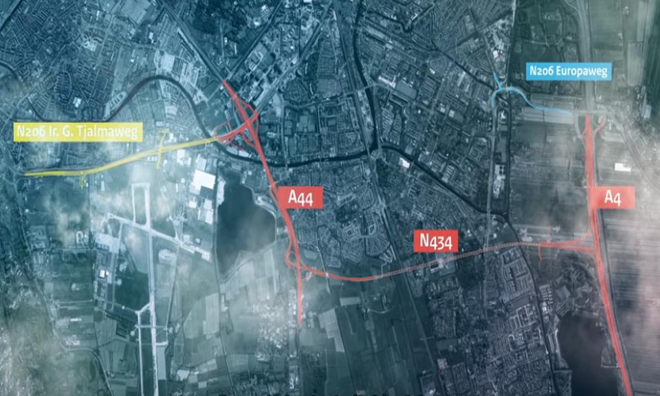 Tracé de RijnlandRoute