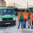 Marcello Kortekaas met zijn team op het werkterrein