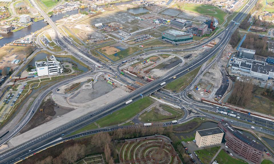 Luchtfoot A44 - Aansluiting Leiden-West