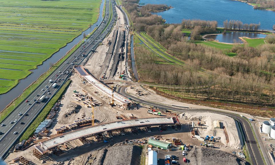 Luchtfoto Knooppunt Hofvliet