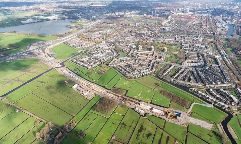 Luchtfoto A44 - Overzichten Knooppunt Ommedijk