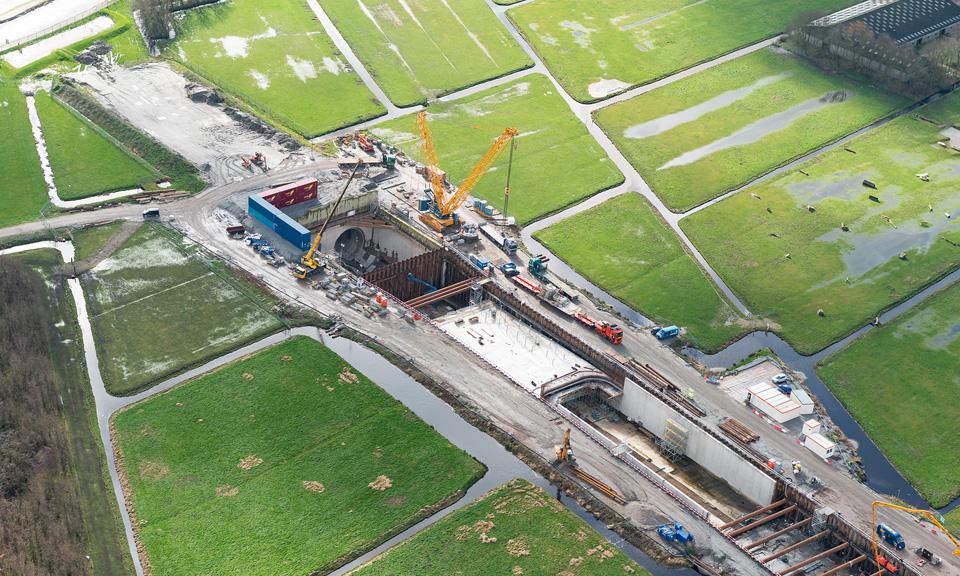 Luchtfoto Ontvangstschacht Details