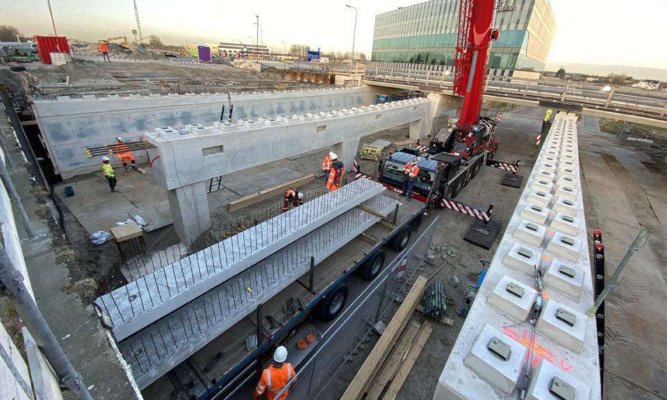 Overzichtsfoto werkzaamheden viaduct