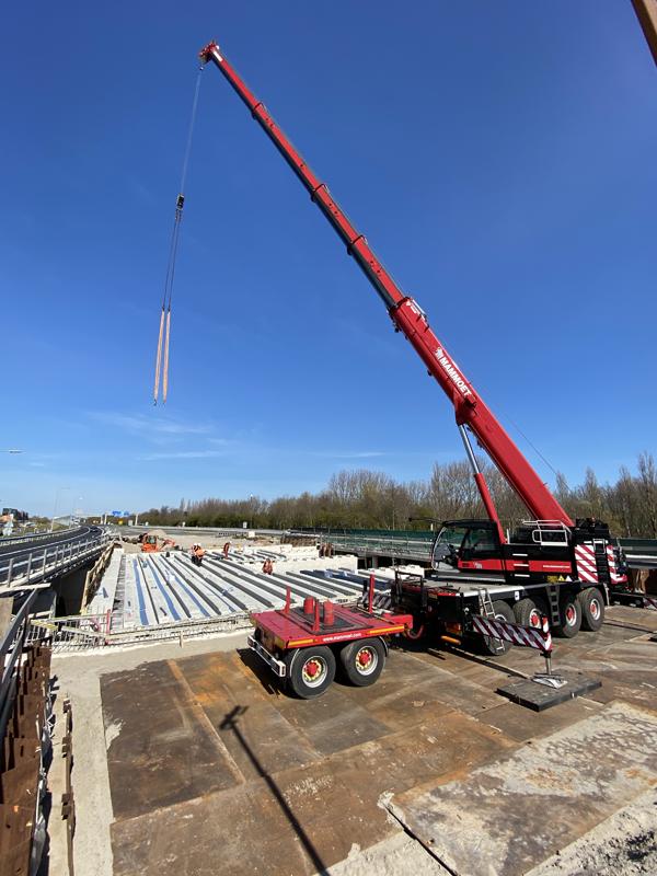 Foto werkzaamheden viaduct