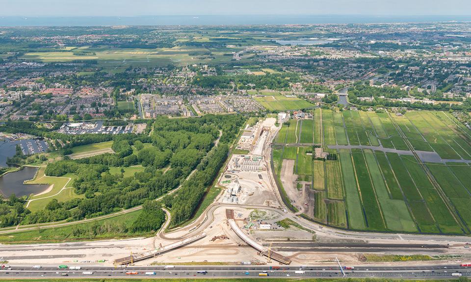 Overzicht over het project vanaf de A4.