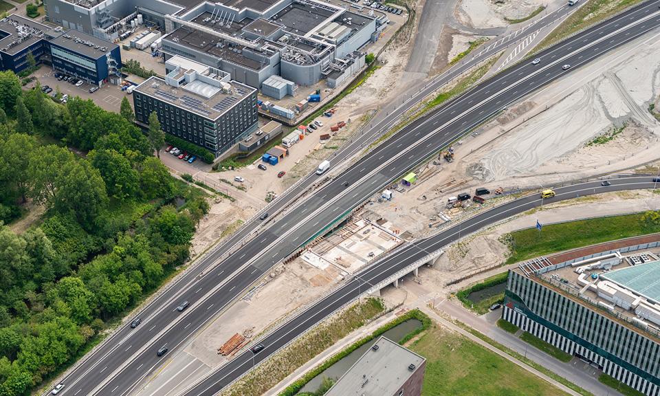 Luchtfoto viaduct Robert Boyleweg