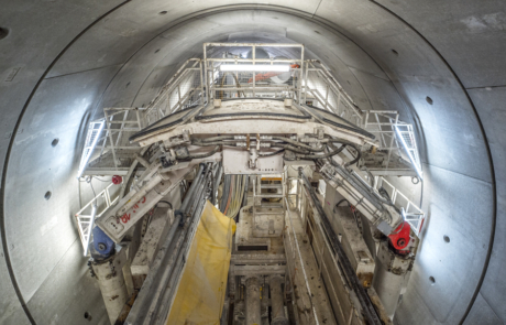 Tunnelboormachine in de tunnel
