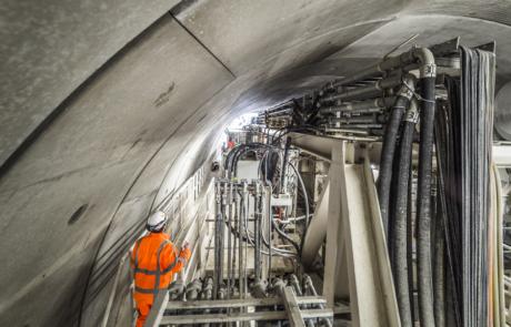 Werkzaamheden in de tunnel - plaatsen van de ring