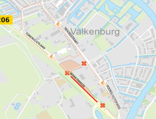 N206 ir. G. Tjalmaweg: afsluiting fietspad Torenvlietslaan