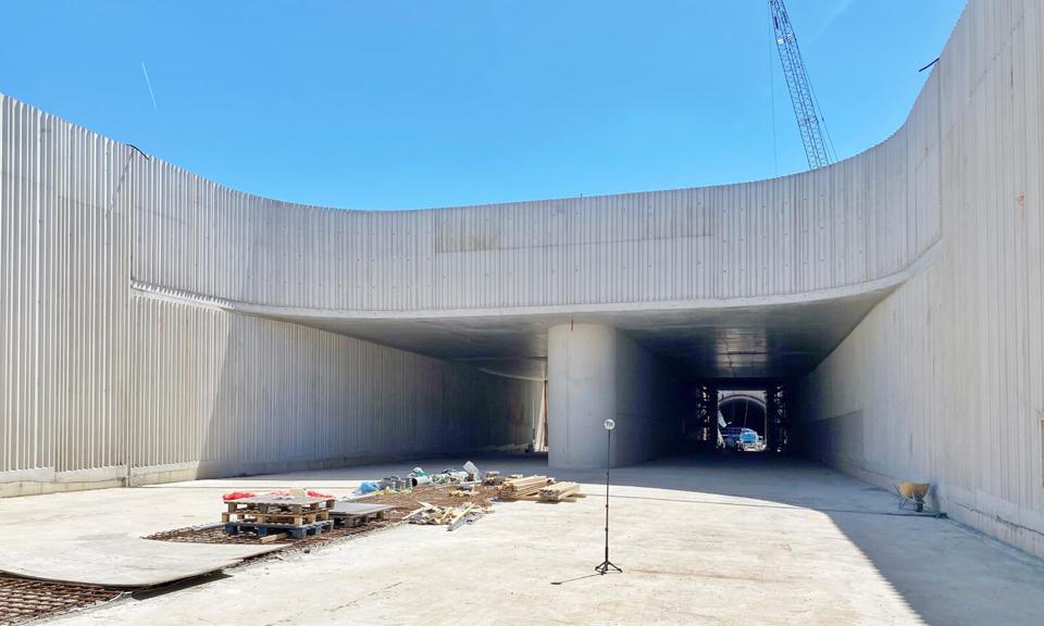 Tunneltoerit verdiepte ligging