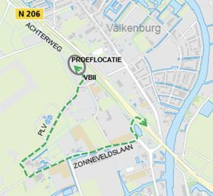 Kaart route bouwverkeer