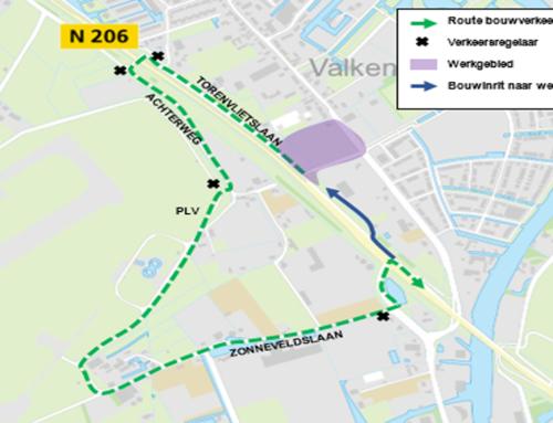 N206 ir. G. Tjalmaweg: bouwverkeer voor de rotonde Torenvlietslaan en aansluiting Valkenburg-Oost