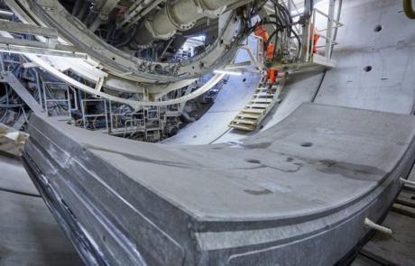 Close-up tunnelsegment