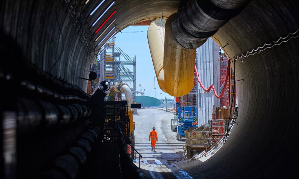 Startschacht vanuit de tunnel