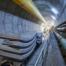 Tunnelsegmenten vervoerd naar de tunnelboormachine