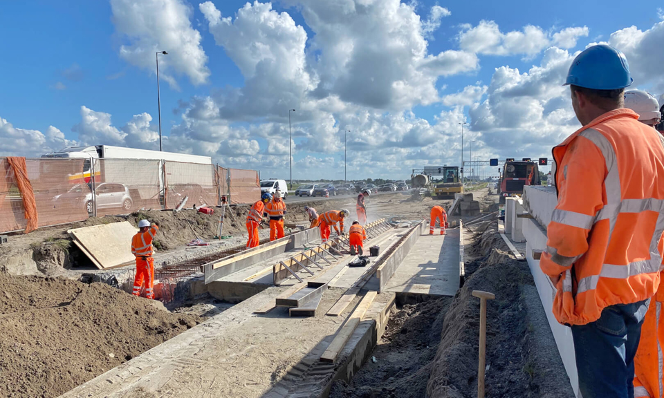 Werkzaamheden aan de weg A4