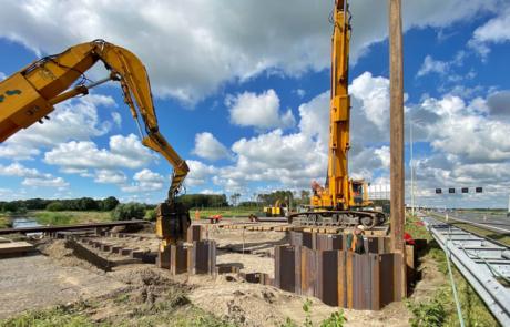 Werkzaamheden A4 - bouw nieuwe duiker