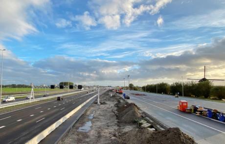 Links de nieuwe A4 richting Amsterdam, rechts oude A4