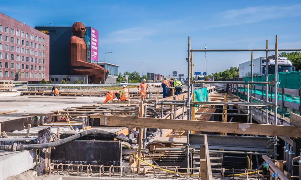 Werkzaamheden viaduct Robert Boyleweg