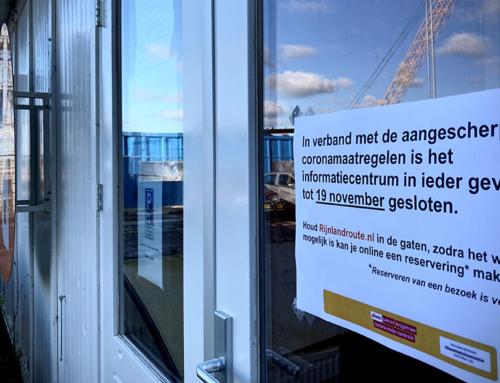 Informatiecentrum gesloten vanwege maatregelen coronavirus