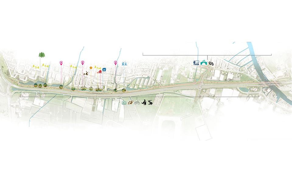 Kaart met maatregelen tijdelijke N206 Tjalmaweg