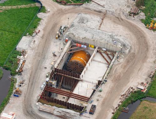Werkzaamheden ontmanteling tunnelboormachine