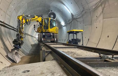 Werkzaamheden in de tunnel