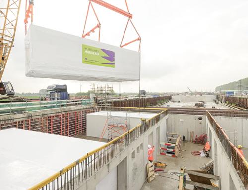 Technische installaties geplaatst in dienstgebouw Corbulotunnel