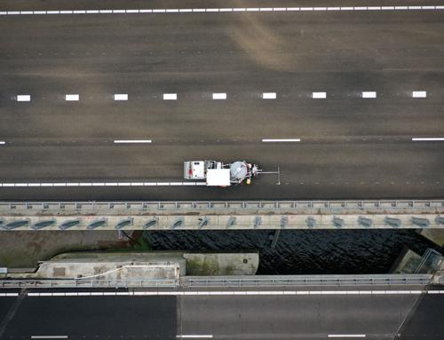 Dronevideo werk aan de wegA44