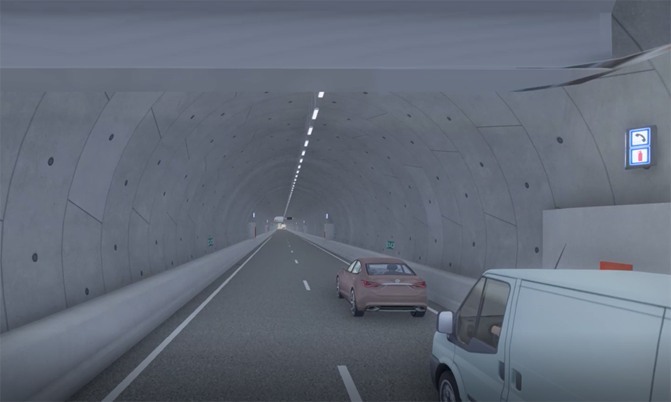 XVR in de Corbulotunnel